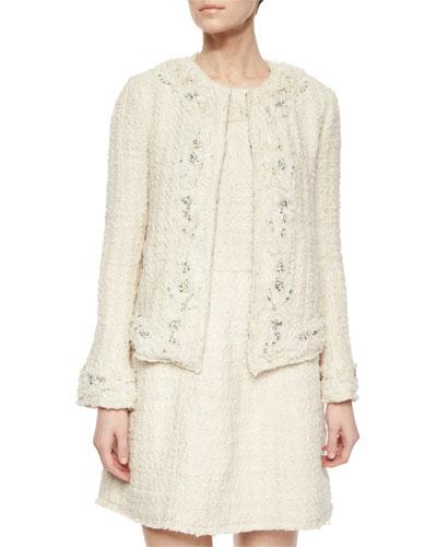 Nilla Embellished Tweed Jacket