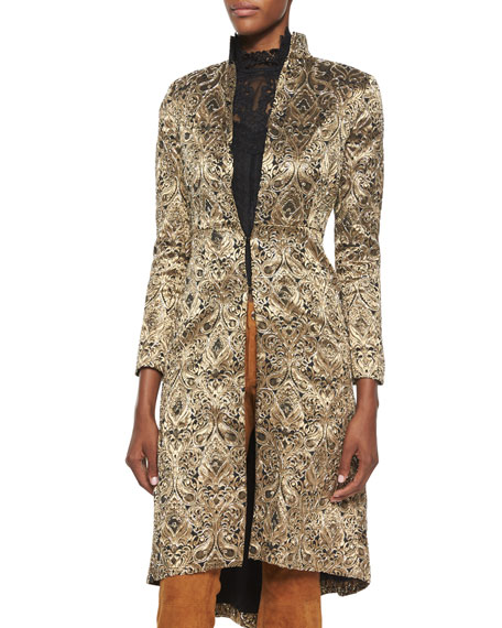 Alice + Olivia Xia Metallic Jacquard Coat