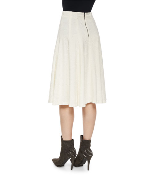 Kimi Hammered Crepe A-Line Skirt