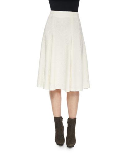 Kimi Hammered Crepe A-Line Skirt