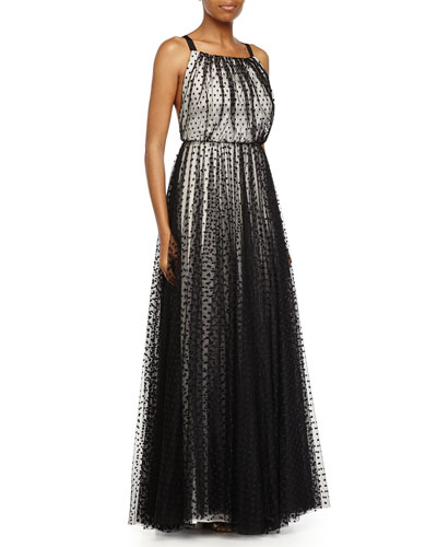Kierra Dotted Two-Tone Gown