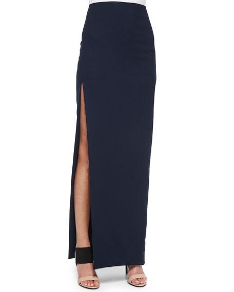 Avita High-Rise Scuba Skirt, Navy