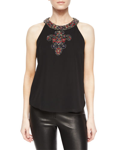 Leandra Beaded Georgette Top