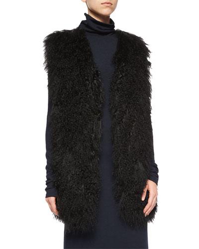 Winnifred Oversize Lamb-Fur Vest