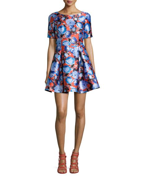 Sachin & Babi Short-Sleeve A-Line Mini Dress, Fresno