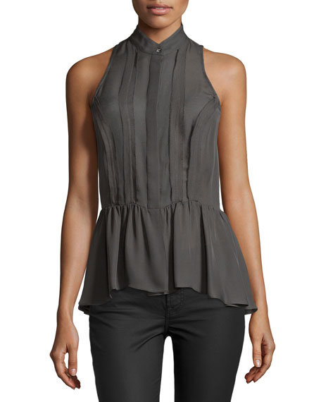 Sleeveless Peplum Top, Elephant