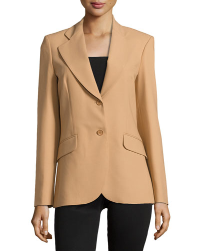 Double-Button Jacket, Suntan