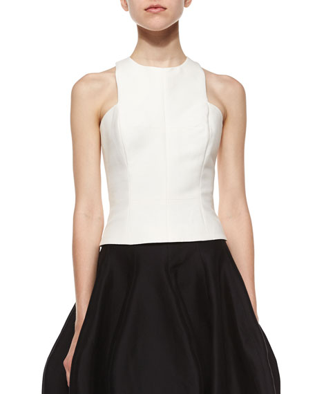Halston Heritage Sleeveless Jewel-Neck Tank