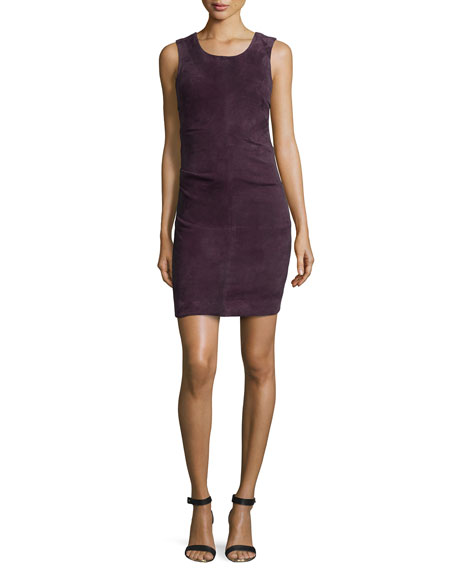 Nicole Miller Lauren Sleeveless Mini Dress, Plum