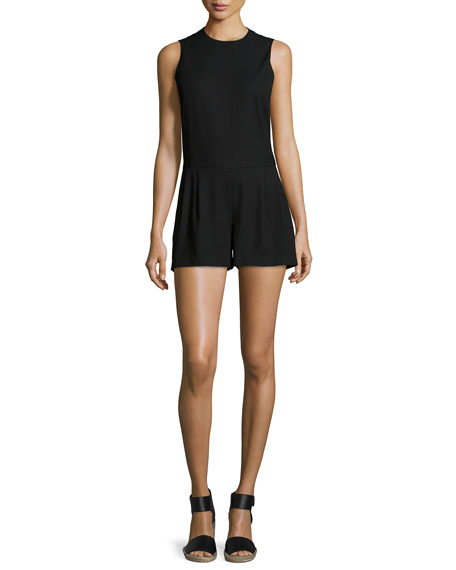 MICHAEL Michael Kors Tailored Sleeveless Short Romper