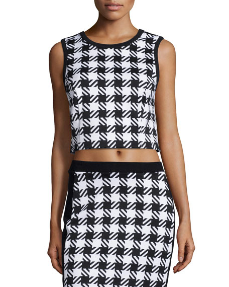 Elgin Houndstooth Crop Top