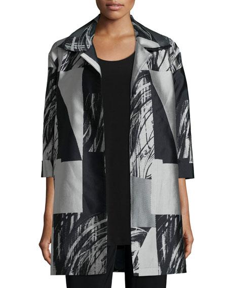 Caroline Rose Perspective Jacquard Long Party Jacket