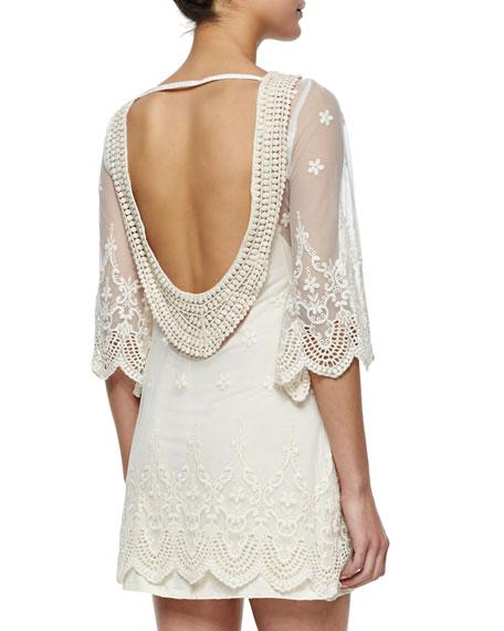 La Vie En Ros Open-Back Lace Dress