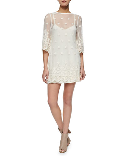 La Vie En Ros Open-Back Lace Dress