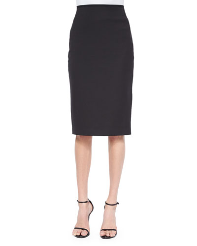 Cammie Cotton-Blend Pencil Skirt