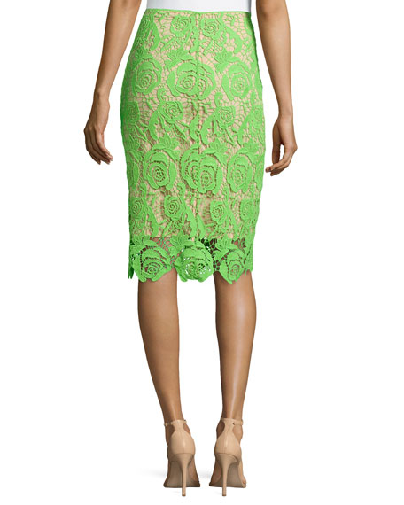 neon venice lace skirt