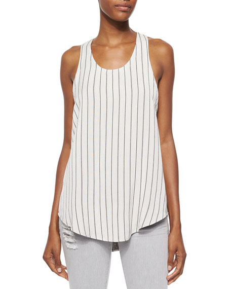 Coleen Sleeveless Striped Racerback Top