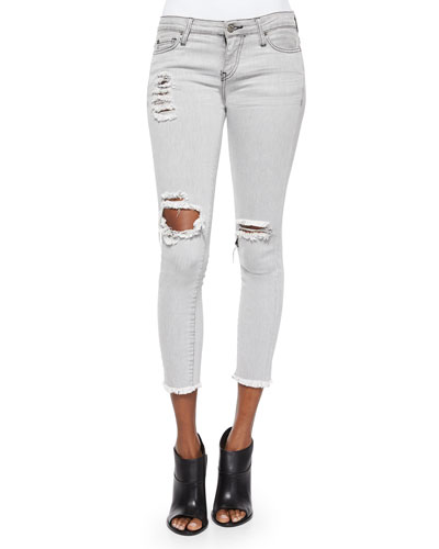 Jarod Distressed & Ripped Denim Cropped Jeans