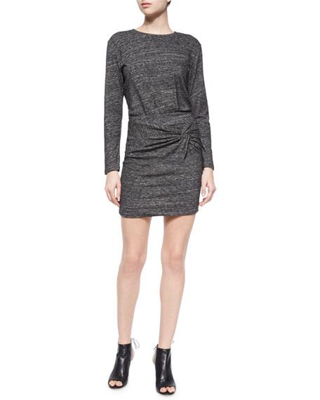 IRO Leticia Wrap-Front Dress, Dark Gray