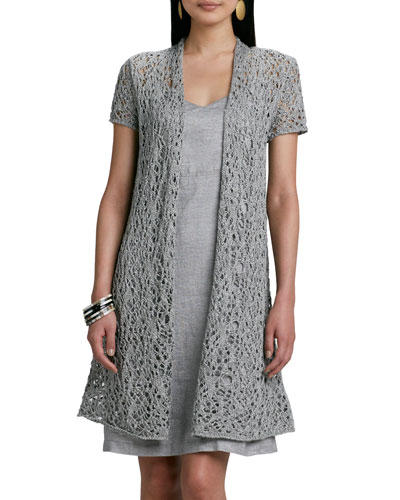 Rustic Luster Long Lacy Cardigan, Women