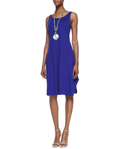 Organic Cotton/Hemp Twist Sleeveless Dress, Petite