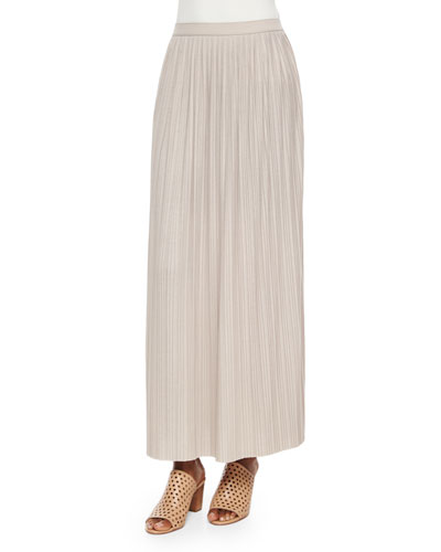 Long Pleated Skirt, Women's