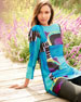 Image 2 of 3: 3/4-Sleeve Abstract-Print Tunic, Plus Size