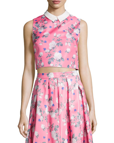 Josephine Sleeveless Floral-Print Top