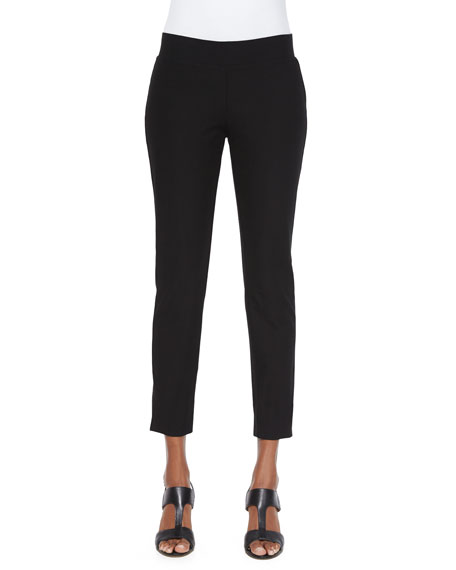 Eileen Fisher Washable Stretch Crepe Cropped Pants, Women's