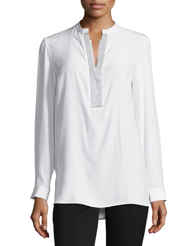 Dunham Blouse W/ Chain Detail