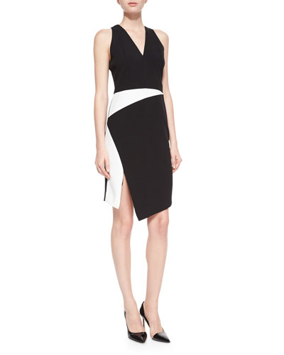 Sleeveless Tech Colorblock Dress