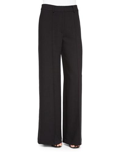 Hayden High-Waist Pintuck Trousers