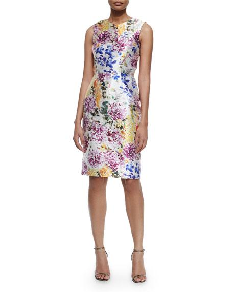 Kalinka Sleeveless Floral-Print Cocktail Dress, Artistic Floral