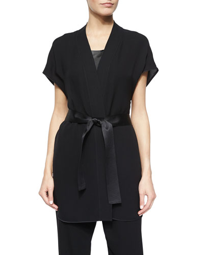 India Short-Sleeve Georgette Vest