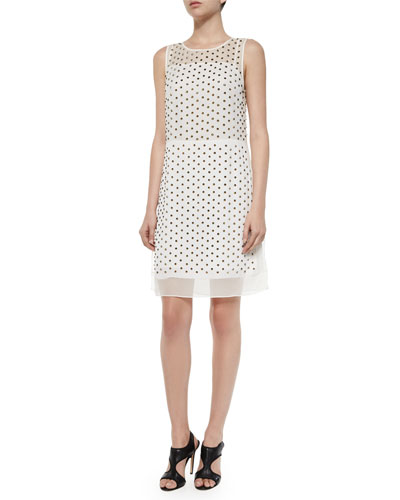 Abriela Embellished Dress, Ivory