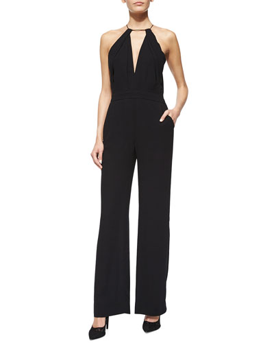 Ireland Crepe Jumpsuit, Black