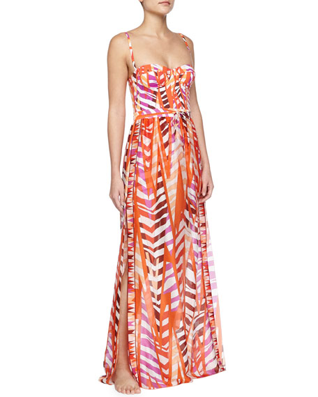 Emilio Pucci Printed Silk Gauze Maxi Skirt Coverup