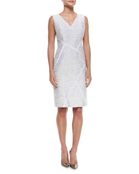 Lafayette 148 New York Kiersten Sleeveless Sakura Jacquard Dress