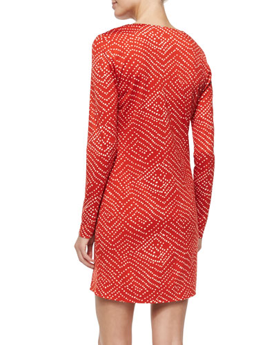 Dvf Reina Dress Red NMS TA