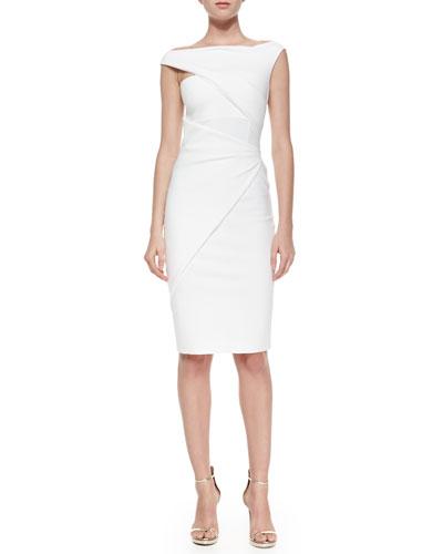 Silvietta Asymmetric Body-Conscious Cocktail Dress
