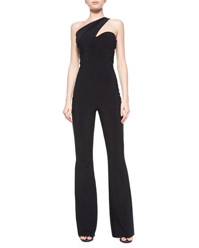 Venere One-Shoulder Jumpsuit W/ Pockets
