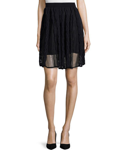 Sheer Greek Key Skirt
