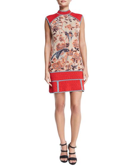 M Missoni Floral Tapestry Jacquard Dress