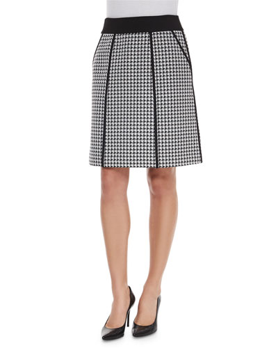 Madeline Houndstooth A-line Skirt