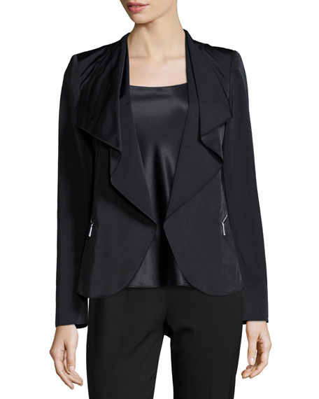 Lafayette 148 New York Camden Ruffled Open Jacket