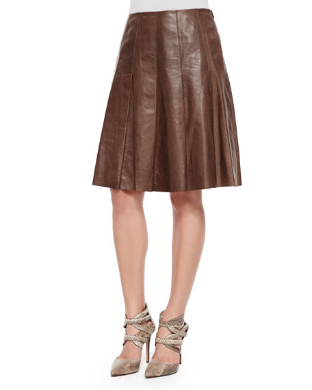 Lafayette 148 New York Rayden Pleated Lambskin Leather