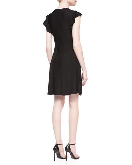 Flutter Knit Fit & Flare Dress