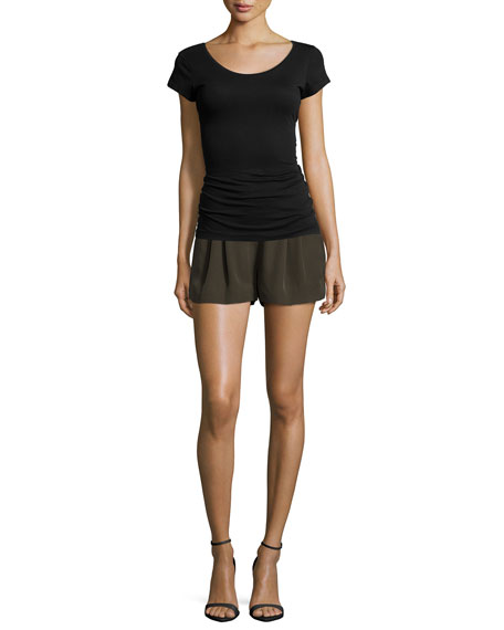 Mid-Rise Summer Shorts, Military