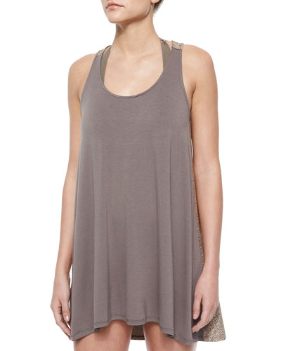 Glitter-Back Knit Coverup, Earth