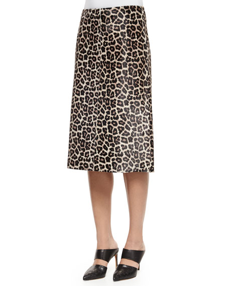 Midi L. Sahara Printed Skirt, Ivory/Gray